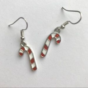 Candy Cane Earrings NIB